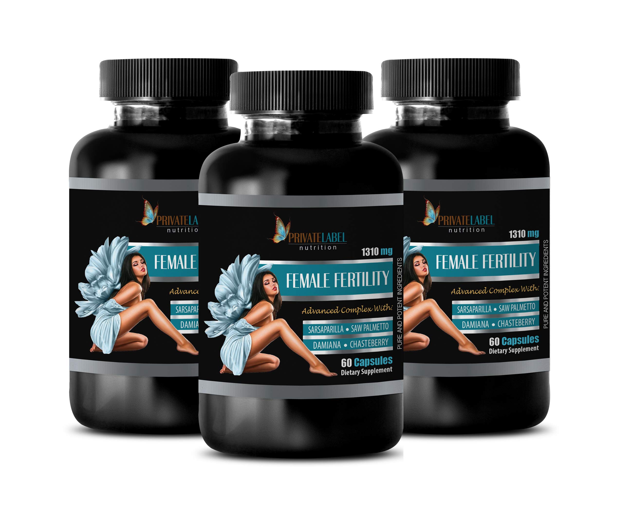 Immune System Vitamins for Women - Female Fertility Advanced Complex - Saw Palmetto Supplements for Women - 3 Bottles 180 Capsules