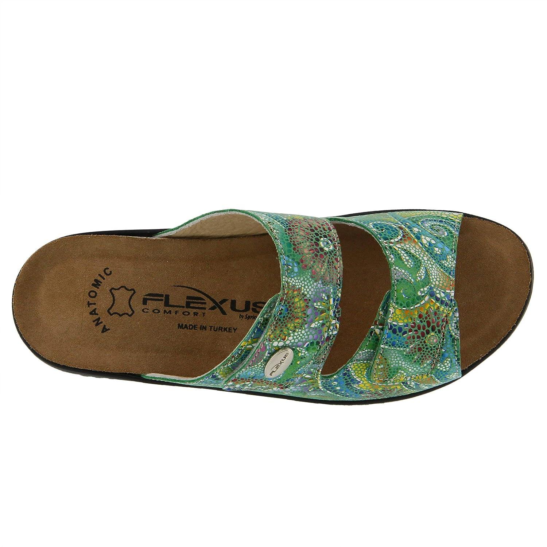 Flexus Womens Bellasa Leather Slide Sandal
