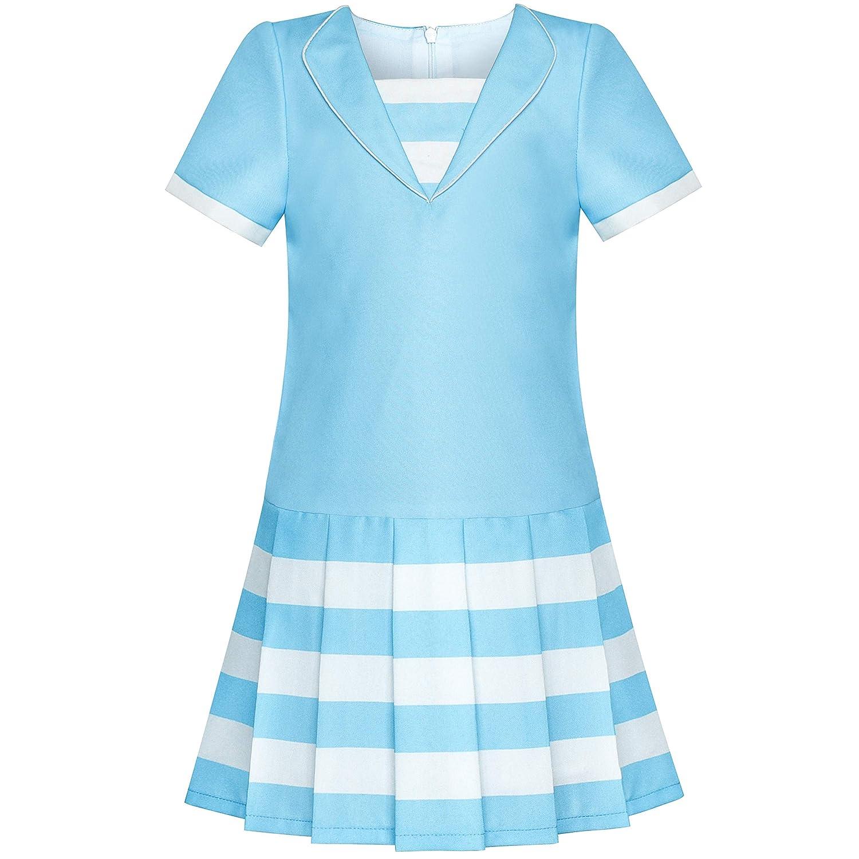 Sunny Fashion Girls Dress Khaki School Pleated Skirt Dress Size 4-12