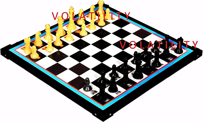 VOLATILITY Wooden Board 12-12 Chess & Ludo Multicolour, Medium ( Chess & Ludo ))