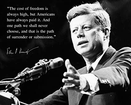 Amazon.com: John F Kennedy JFK Photo Picture Poster Framed Quote