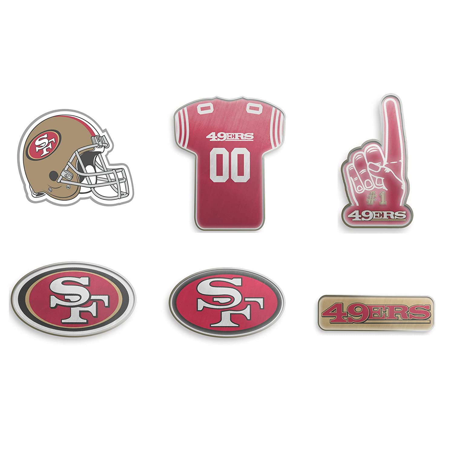 6a0f6f71 Forever Collectibles San Francisco 49ers 6 Piece Pin Badge Set ...