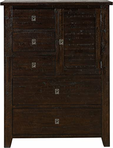 Jofran , Kona Grove, Door Chest, 42 W X 19 D X 54 H, Deep Chocolate Finish, Set of 1