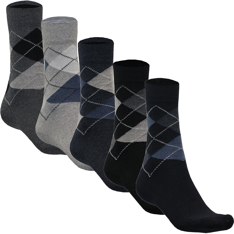 5 10 Paar Karo Socken für Herren Sport Freizeitsocken Arbeitssocken Baumwolle mit Motiv von SGS