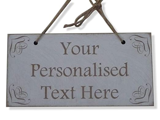 Tu texto aquí personalizada Cartel de madera estilo shabby ...