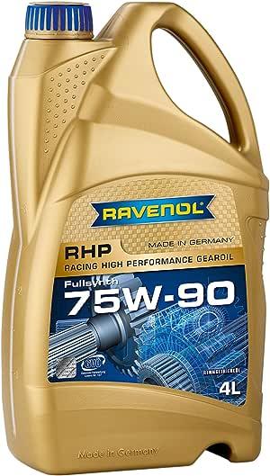 RAVENOL J1C1130-004 SAE 75W-90 Gear Oil - RHP Racing Full Synthetic API GL-4 / GL-5 Spec (4 Liter)