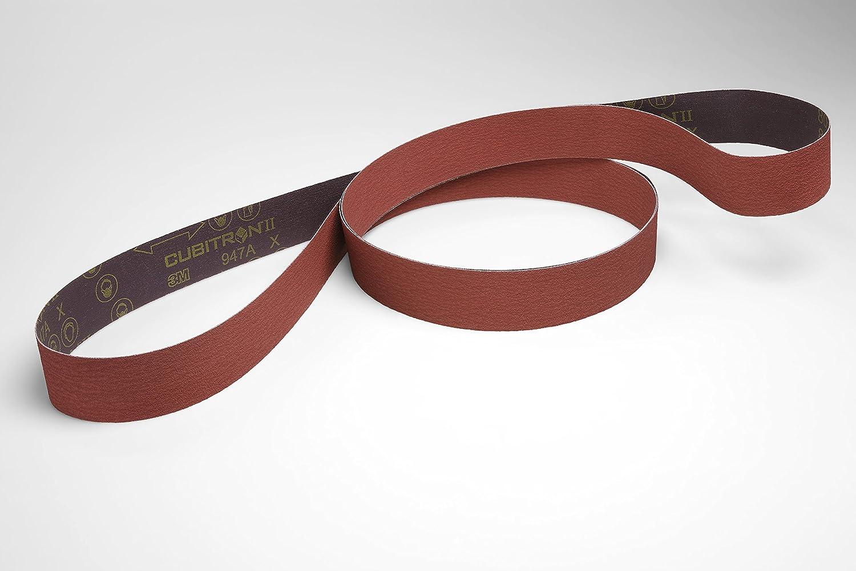 3M 051125947022 Cubitron ll Belt 947A 120+ Manufacturer Grade 1//4 Width x 24 Length 00051125947022 X-Weight 1//4 Width x 24 Length Pack of 200