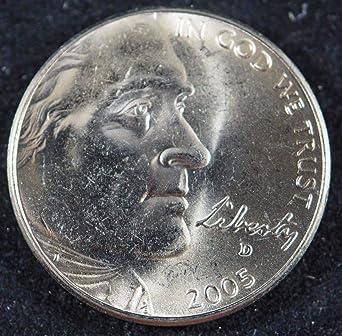 Jefferson 5 cent Brilliant Uncirculated 2005 D Ocean View