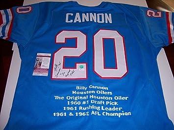 Billy Cannon Houston Oilers coa Signed Jersey - JSA Certified - Autographed  NFL Jerseys b92cd3ed9
