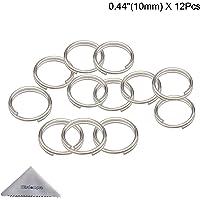Split Ring, Wisdompro 12 Pack of Small Titanium Alloy Split Rings (Diameter: 10mm)