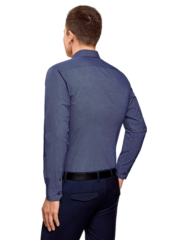 oodji Ultra Hombre Camisa B/ásica de Algod/ón