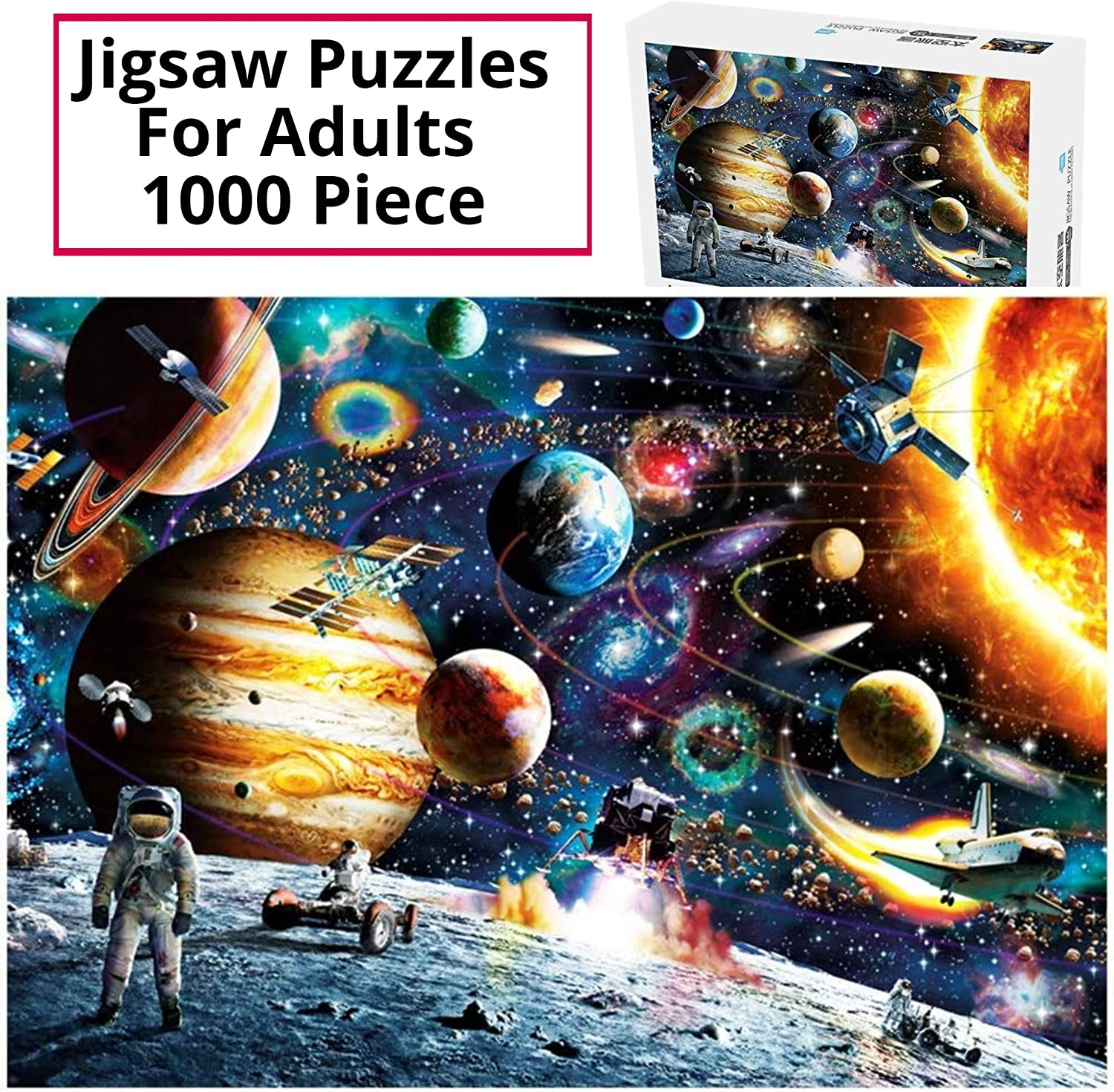 Jigsaw Puzzles for Adults 1000 Piece - Natural Material, Non-Toxic, for Adult, Kids, Children, Boy, Teens, Grandparents, Senior Adults, Elderly Adults, Astronomy Lovers Men