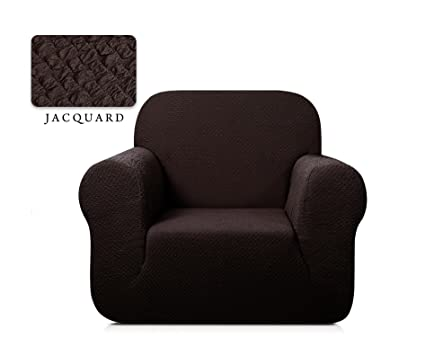 TOYABR 1 Piece Seersucker Jacquard Stretchy Fabric Dinning Room Sofa  Slipcovers Fitted Sofa Protector (
