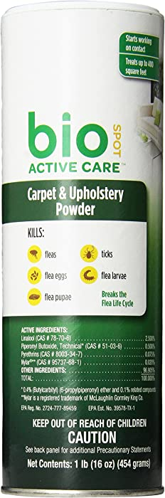 Bio Spot Active Care Flea & Tick Carpet & Upholstery Powder