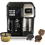 Hamilton Beach FlexBrew Coffee Maker, Single Serve & Full Pot, Compatible with K-Cup Pods or Grounds, Programmable…