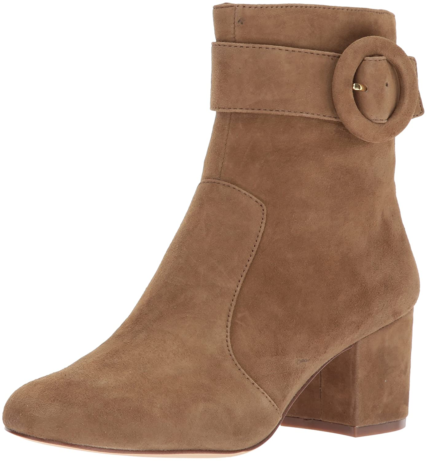 Nine West Women's Quilby Suede Ankle Boot B01MUS6S16 8 B(M) US|Clove