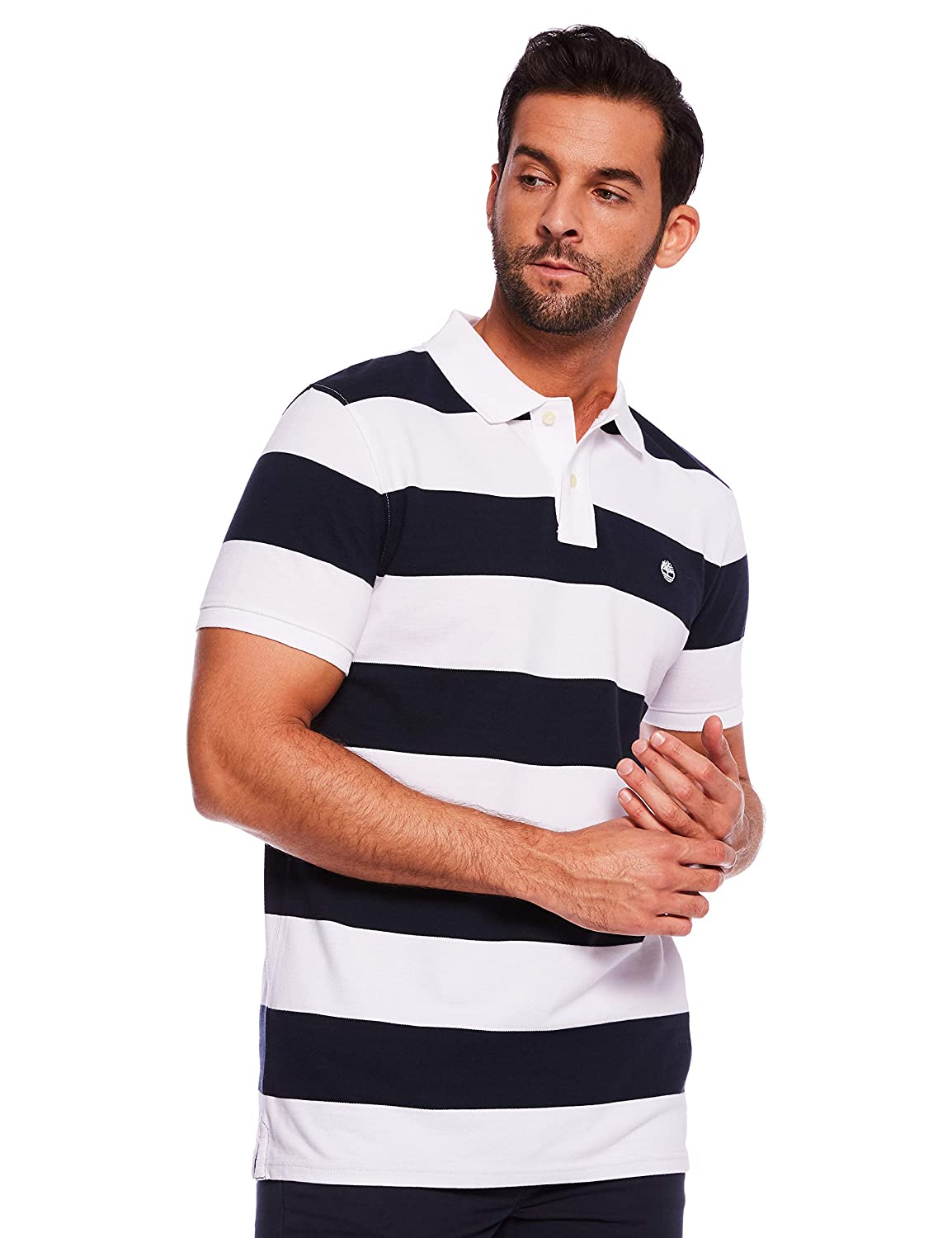 Timberland SS Millers River Pique Wide Stripe Polo Reg Hombre ...
