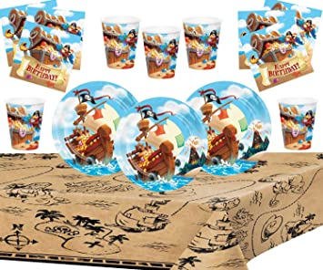 Pirate Treasure Party Supllies Suministros de Fiesta Pirata ...