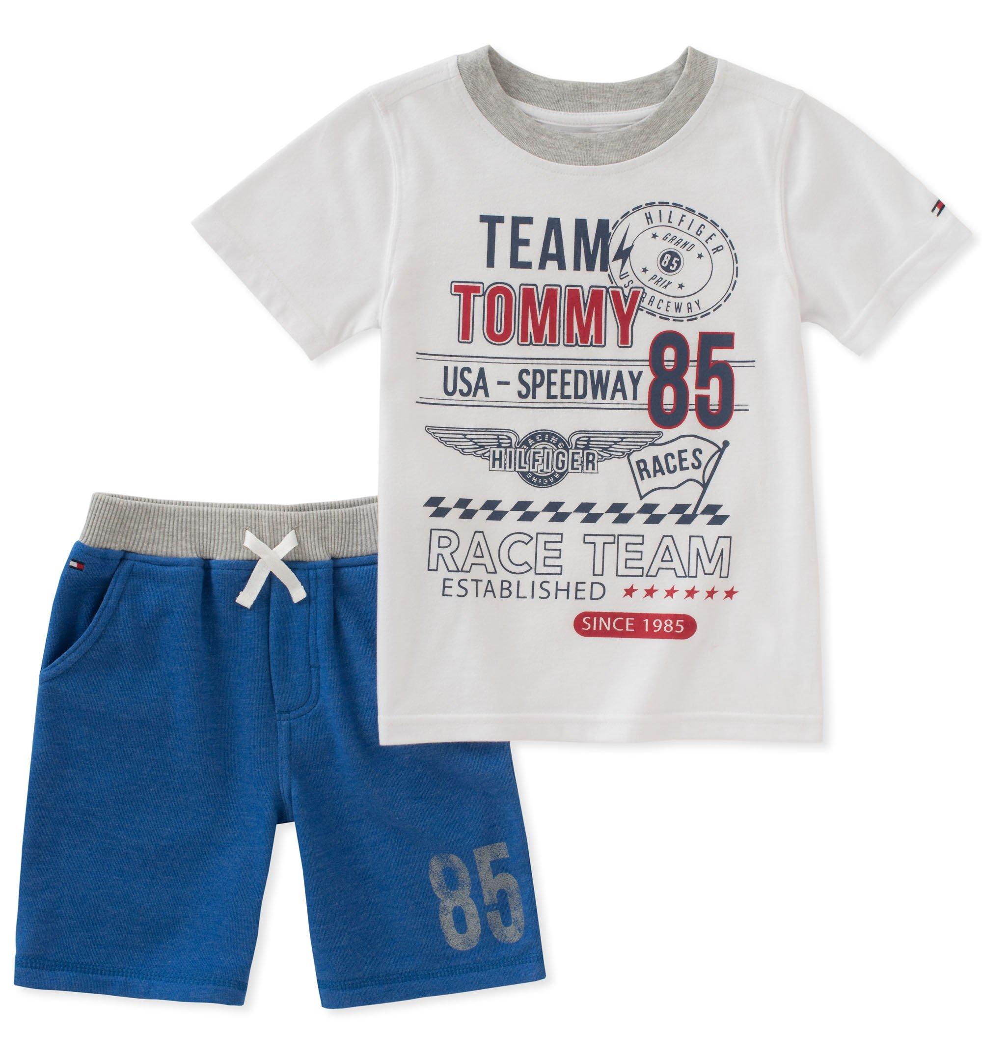grand choix de fce5f ad33d Tommy Hilfiger Baby Boys 2 Pieces Shorts Set, White/Blue, 12M
