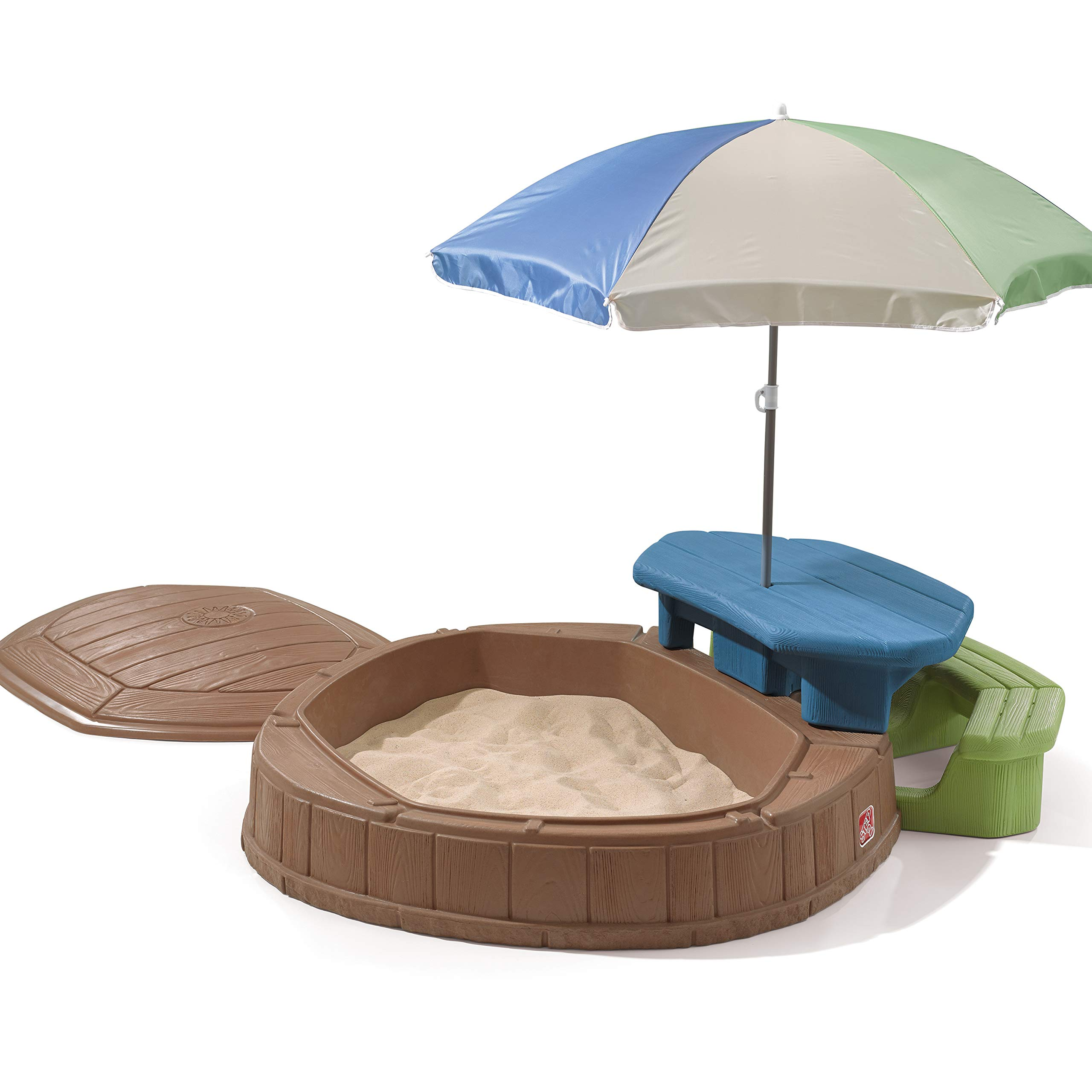 Step2 Naturally Playful Summertime Play Center 57 Ft. W Octagon Sandbox by Step2 (Image #1)