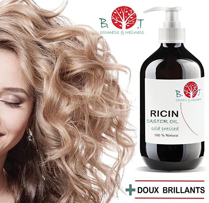 Aceite de Ricino Prensado en Frío 100% Natural Hidratante Uñas, Cabello, Barba, Bebé, Limpieza facial (500 ml): Amazon.es: Belleza