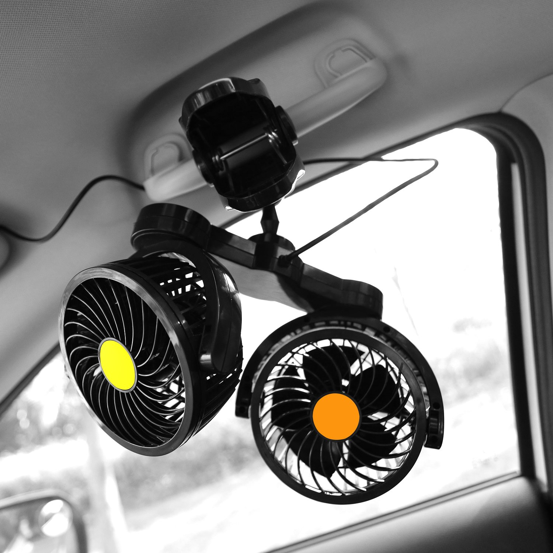 After partz HX de 02/ /24/V 24/V Dual Head el/éctrico de Auto de ventilador con clip