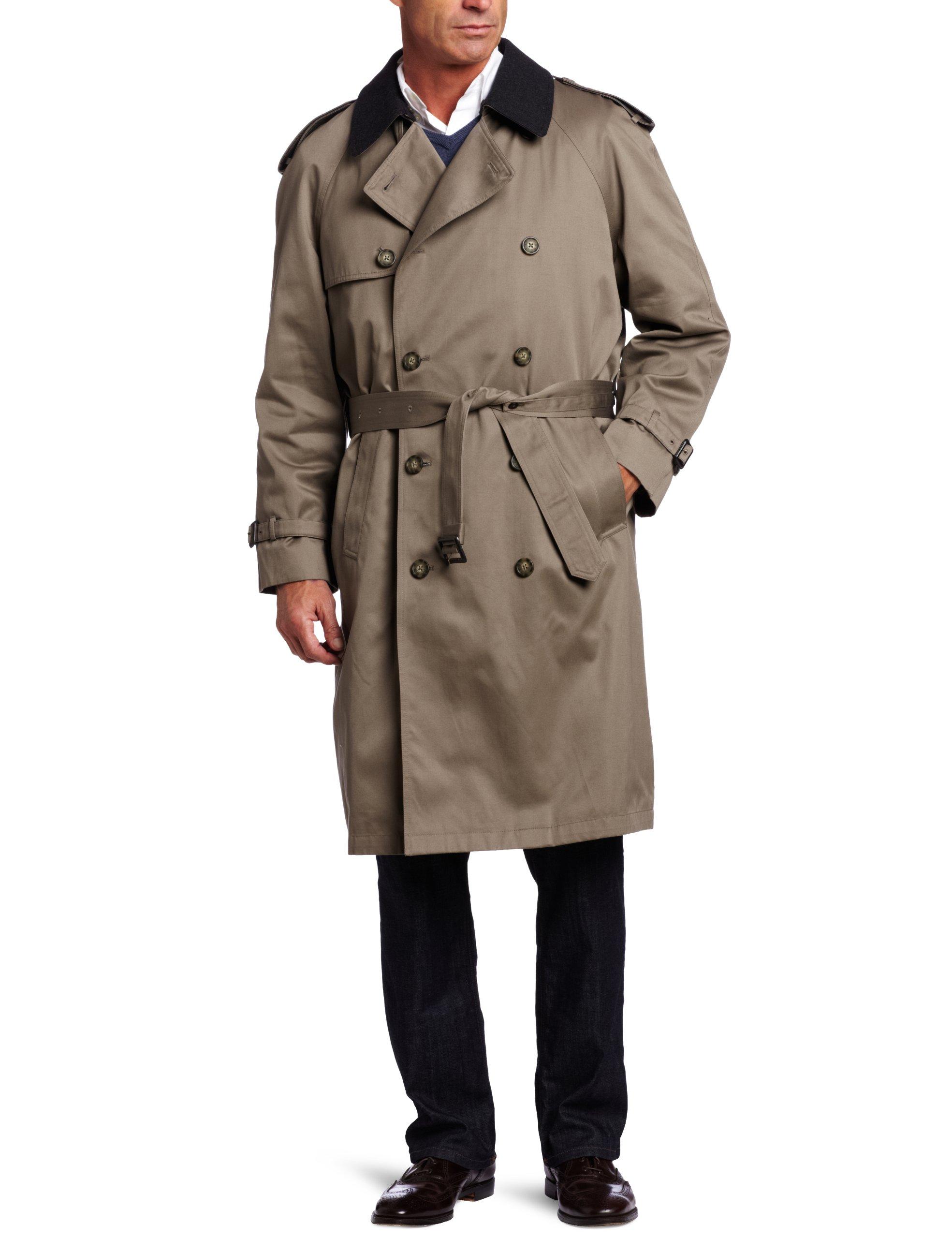 Hart Schaffner Marx Men's Burnett Trench Coat, Loden, 40 Short