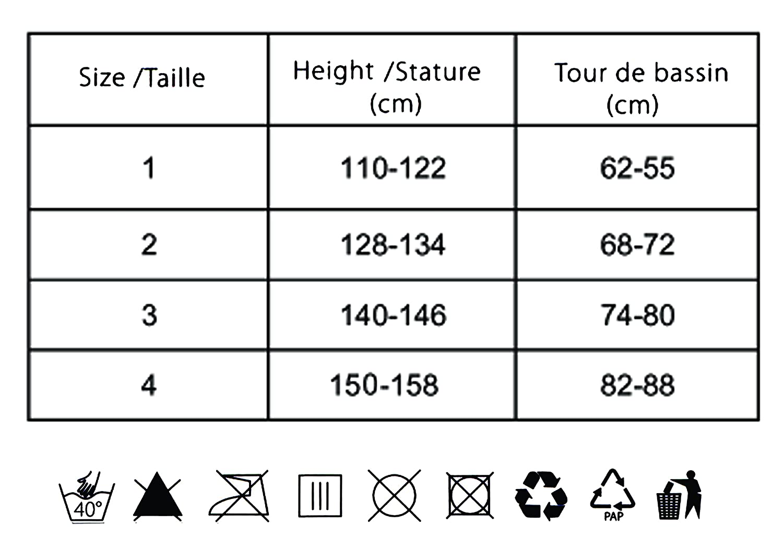 Gabrella Lila Kinder Strumpfhose Muster Kommunionstrumpfhose 140-146, Wei/ß
