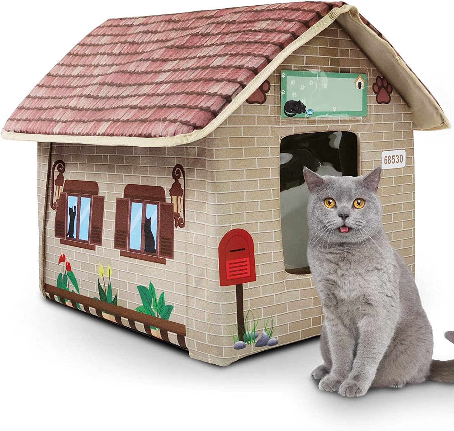 Marunda Cat Houses For Outdoor Cats In Winter Outdoor Cat House Weatherproof And Insulated Easy To Assemble Pet Supplies