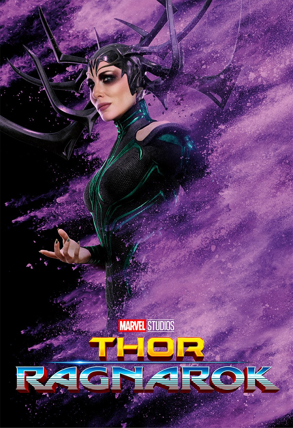 Thor 3 : Ragnarok (2017) - Hela - 13 in x 19 in Movie Poster Flyer BORDERLESS + Free 1 Tile Magnet