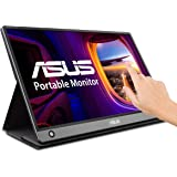 "ASUS ZenScreen MB16AMT 15.6"" Full HD Portable Monitor Touch Screen IPS Non-glare Built-in Battery and Speakers Eye Care USB Type-C Micro HDMI w/Foldable Smart Case"