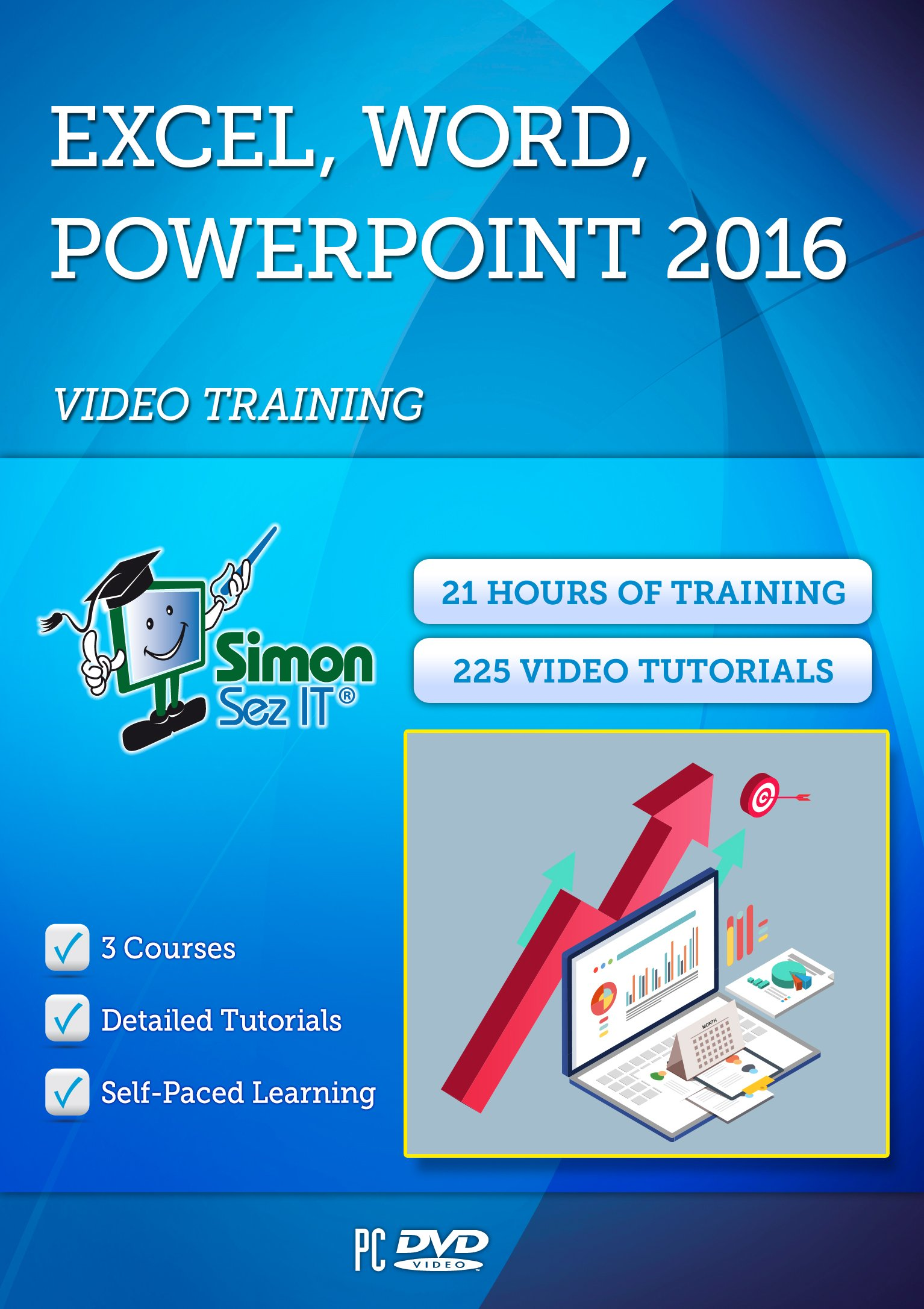 Office 2016 Training by Simon Sez IT: 21 Hours of Excel 2016, PowerPoint 2016 and Word 2016 Self-Paced Training| Exercise Files Included by Simon Sez IT