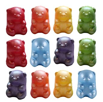 069b53c0a Amazon.com  Bulk - 12 Gummy Bear Squishy Slow Rise Animal - Sensory ...
