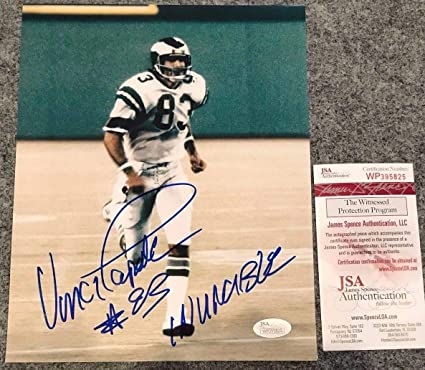 0afa7936354 Image Unavailable. Image not available for. Color  Vince Papale Autographed  ...