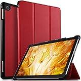 ELTD Huawei 10.1インチ MediaPad M5 Lite 10 タブレット ケース MediaPad M5 lite 10 ケース Wi-Fiモデル/LTEモデル適用 オートスリープ機能付き 手帳型ケース レッド