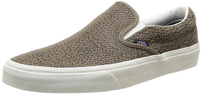 Vans Classic Slip-On Sneakers Unisex Erwachsene Mehrfarbig (Cheetah Suede/Black/Tan)