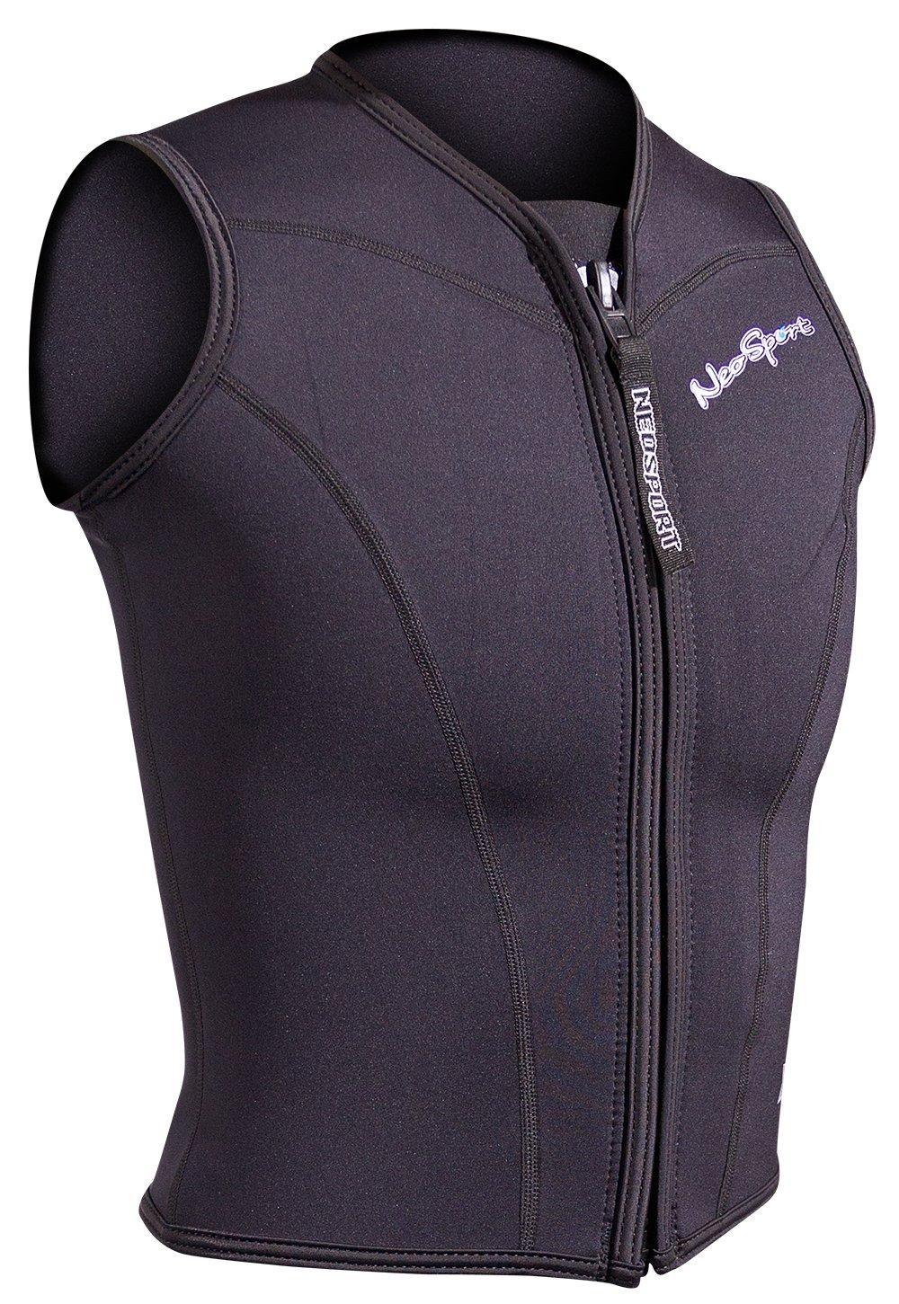 NeoSport Women's 2.5-mm XSPAN Vest (Black, 4) - Water Sports, Diving & Snorkeling by Neo-Sport