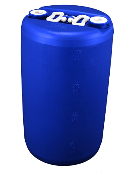 Charmant 20 Gallon Emergency Water Storage Drum, Blue   New!   Boxed!