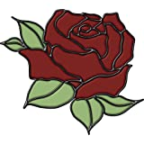 Brewster 99472 Peel & Stick Rose Stained Glass Appliqué