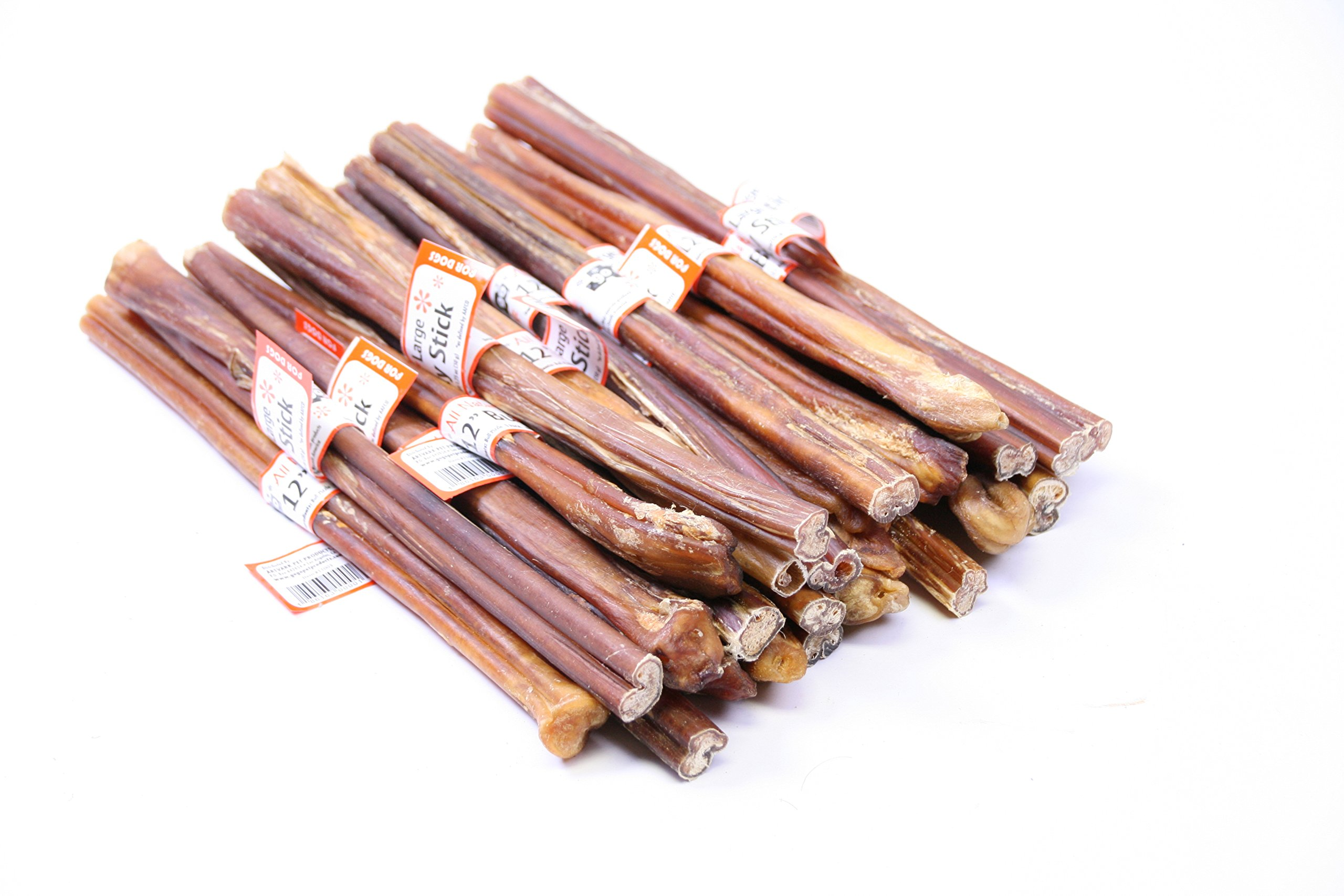 GoGo Large Bully Sticks - 12 Inch - 12 pack by GoGo Pet Products (Image #2)