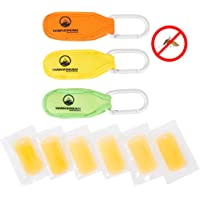 Wakeman Outdoors Natural Mosquito Repellent Neoprene Belt Clips - Safe, DEET Free Insect Protection, 3 Pack with 6 Refills