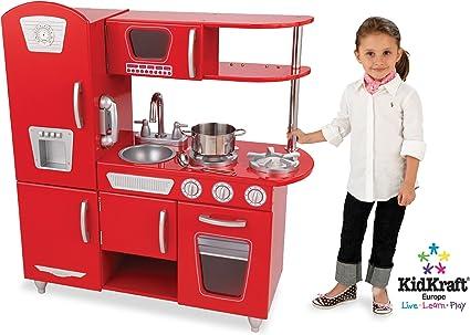 Amazon Com Kidkraft Red Vintage Kitchen Toys Games