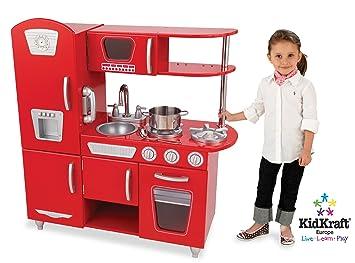 KidKraft Red Retro Kitchen 53156 Activity Playset (Red)