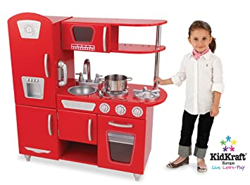 Amazon.com: KidKraft Red Vintage Kitchen: Toys & Games