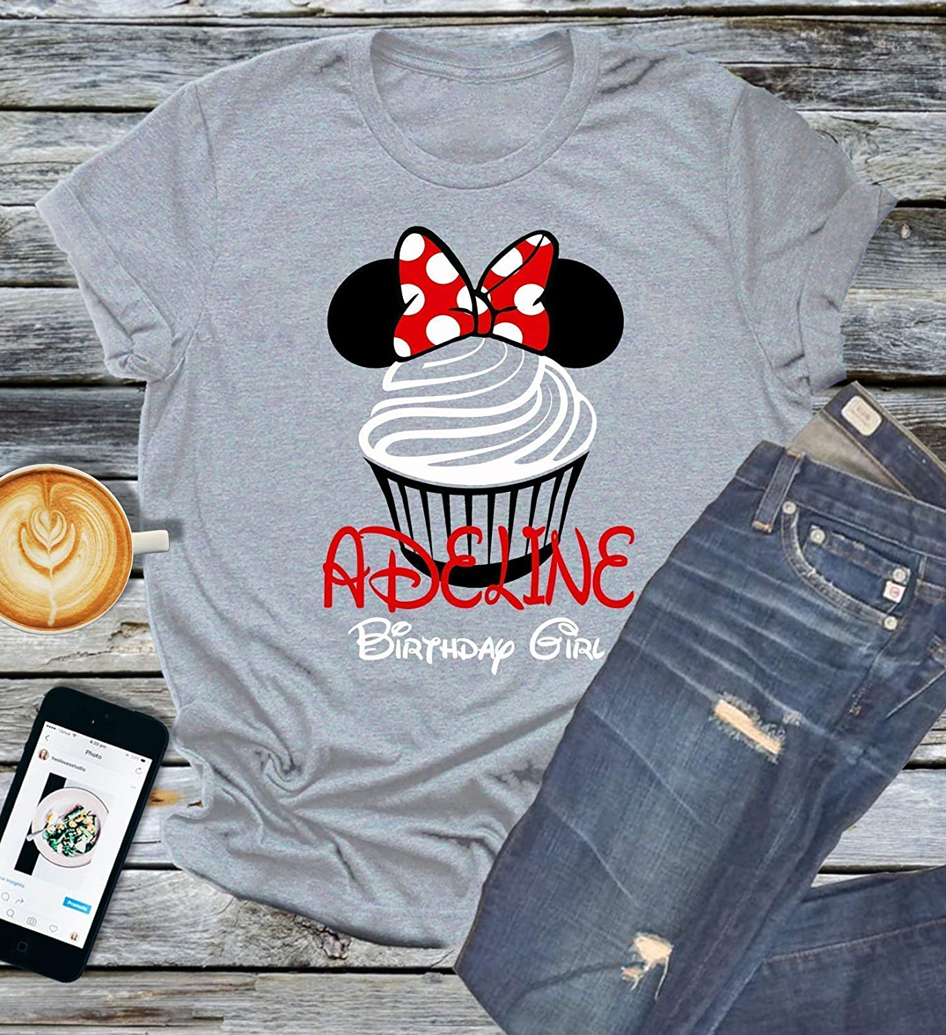 DISNEY  VACATION MINNIE MOUSE ANIMAL KINGDOM PERSONALIZED SHIRT IRON ON TRANSFER