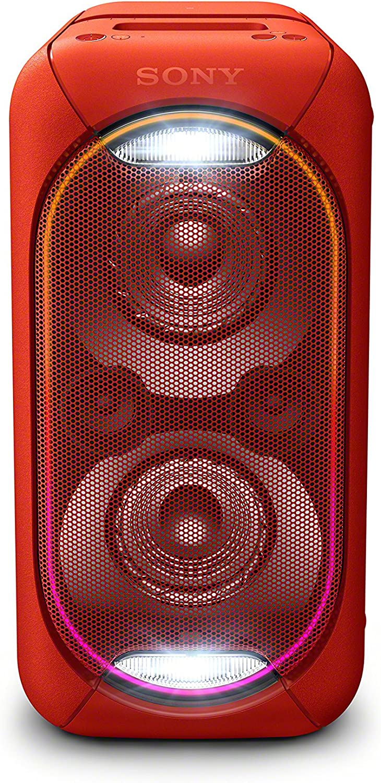 Sony GTK-XB60 - Sistema de Audio, Altavoz para Fiesta de Alta Potencia (Bluetooth, NFC, batería integrada, High Power, Efectos de luz, Wireless Party Chain, posición Vertical y Horizontal) Color Rojo