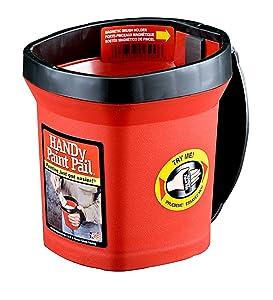 Bercom 2500-CT Handy Paint Pail, 1 Pack, Red