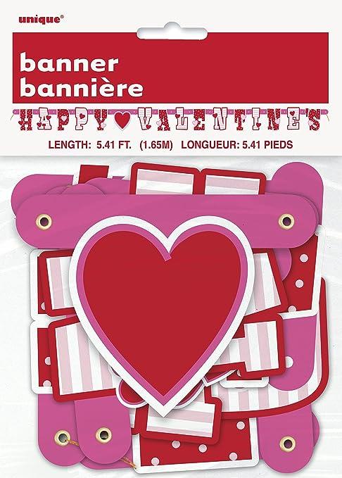 5ft Happy Valentine`s Banner