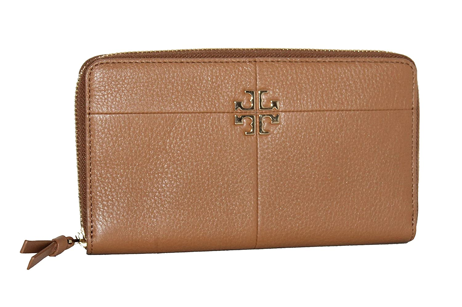 fde89382ceaf Amazon.com  Tory Burch Ivy Zip Continental Leather Women s Wallet  44732 BARK  Clothing
