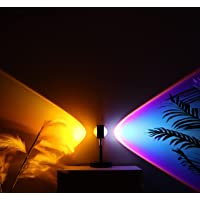 IKZIZI Sunset Lamp, 4 Colors with Double-Sided Projection Sunset Lamp, Touch Switch Control with Led Night Light Sunset…